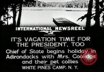 Image of President Coolidge at White Pine Campo Paul Smiths New York USA, 1926, second 7 stock footage video 65675068973