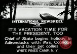 Image of President Coolidge at White Pine Campo Paul Smiths New York USA, 1926, second 8 stock footage video 65675068973