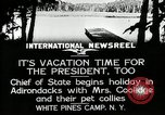 Image of President Coolidge at White Pine Campo Paul Smiths New York USA, 1926, second 10 stock footage video 65675068973