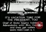 Image of President Coolidge at White Pine Campo Paul Smiths New York USA, 1926, second 11 stock footage video 65675068973