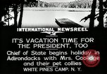 Image of President Coolidge at White Pine Campo Paul Smiths New York USA, 1926, second 12 stock footage video 65675068973