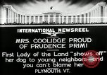 Image of John Calvin Coolidge Plymouth Vermont USA, 1926, second 9 stock footage video 65675068974