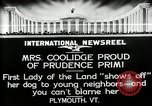 Image of John Calvin Coolidge Plymouth Vermont USA, 1926, second 10 stock footage video 65675068974