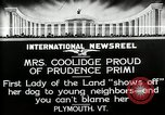 Image of John Calvin Coolidge Plymouth Vermont USA, 1926, second 12 stock footage video 65675068974