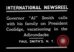 Image of John Calvin Coolidge Paul Smiths New York USA, 1926, second 3 stock footage video 65675068975