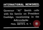 Image of John Calvin Coolidge Paul Smiths New York USA, 1926, second 4 stock footage video 65675068975