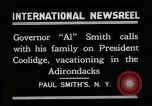 Image of John Calvin Coolidge Paul Smiths New York USA, 1926, second 8 stock footage video 65675068975