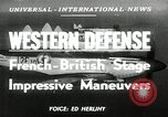 Image of French-British Naval maneuvers Mediterranean Sea, 1950, second 1 stock footage video 65675068986