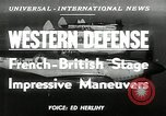 Image of French-British Naval maneuvers Mediterranean Sea, 1950, second 2 stock footage video 65675068986