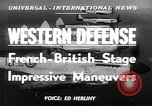 Image of French-British Naval maneuvers Mediterranean Sea, 1950, second 4 stock footage video 65675068986
