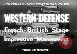 Image of French-British Naval maneuvers Mediterranean Sea, 1950, second 5 stock footage video 65675068986