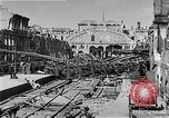 Image of bombed railway station Berlin Germany, 1945, second 9 stock footage video 65675069009