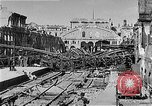 Image of bombed railway station Berlin Germany, 1945, second 10 stock footage video 65675069009