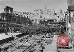 Image of bombed railway station Berlin Germany, 1945, second 11 stock footage video 65675069009