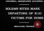 Image of R101 victims Beauvais France, 1930, second 1 stock footage video 65675069011
