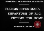 Image of R101 victims Beauvais France, 1930, second 3 stock footage video 65675069011