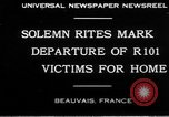Image of R101 victims Beauvais France, 1930, second 7 stock footage video 65675069011