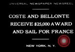 Image of Dieudonne Costes New York United States USA, 1930, second 1 stock footage video 65675069012
