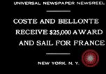 Image of Dieudonne Costes New York United States USA, 1930, second 5 stock footage video 65675069012