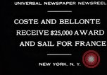 Image of Dieudonne Costes New York United States USA, 1930, second 10 stock footage video 65675069012