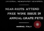 Image of annual Grape Festival Marino Italy, 1930, second 1 stock footage video 65675069013