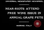 Image of annual Grape Festival Marino Italy, 1930, second 2 stock footage video 65675069013