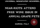 Image of annual Grape Festival Marino Italy, 1930, second 4 stock footage video 65675069013