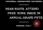 Image of annual Grape Festival Marino Italy, 1930, second 10 stock footage video 65675069013