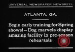 Image of dog show rehearsals Atlanta Georgia USA, 1930, second 1 stock footage video 65675069014