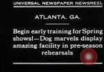 Image of dog show rehearsals Atlanta Georgia USA, 1930, second 2 stock footage video 65675069014