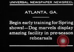 Image of dog show rehearsals Atlanta Georgia USA, 1930, second 7 stock footage video 65675069014