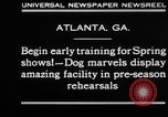 Image of dog show rehearsals Atlanta Georgia USA, 1930, second 8 stock footage video 65675069014