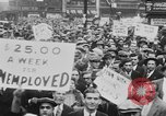 Image of Demonstrators in Manhattan during the Depression New York City United States USA, 1930, second 10 stock footage video 65675069017
