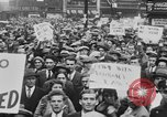 Image of Demonstrators in Manhattan during the Depression New York City United States USA, 1930, second 11 stock footage video 65675069017