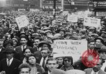Image of Demonstrators in Manhattan during the Depression New York City United States USA, 1930, second 12 stock footage video 65675069017