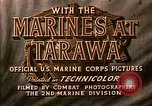 Image of US 2nd Marine Division on troop transports Tarawa Gilbert Islands, 1943, second 7 stock footage video 65675069058