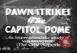 Image of Dawn Strikes the Capitol Dome Washington DC, 1936, second 5 stock footage video 65675069103