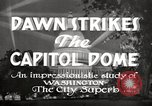 Image of Dawn Strikes the Capitol Dome Washington DC, 1936, second 6 stock footage video 65675069103