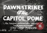 Image of Dawn Strikes the Capitol Dome Washington DC, 1936, second 7 stock footage video 65675069103