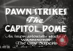 Image of Dawn Strikes the Capitol Dome Washington DC, 1936, second 8 stock footage video 65675069103