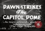 Image of Dawn Strikes the Capitol Dome Washington DC, 1936, second 9 stock footage video 65675069103