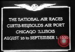 Image of National Air Races Chicago Illinois USA, 1930, second 7 stock footage video 65675069170