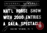 Image of National Horse Show New York United States USA, 1937, second 1 stock footage video 65675069214