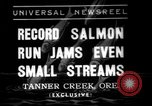 Image of salmon fish Tanner Creek Oregon USA, 1937, second 1 stock footage video 65675069215