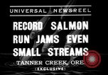 Image of salmon fish Tanner Creek Oregon USA, 1937, second 2 stock footage video 65675069215