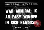 Image of War Admiral Laurel Maryland USA, 1937, second 1 stock footage video 65675069219
