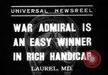 Image of War Admiral Laurel Maryland USA, 1937, second 3 stock footage video 65675069219