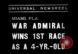 Image of War Admiral Miami Florida USA, 1938, second 2 stock footage video 65675069223