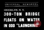 Image of 300 ton bridge Brooklyn New York City USA, 1938, second 1 stock footage video 65675069224