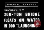 Image of 300 ton bridge Brooklyn New York City USA, 1938, second 7 stock footage video 65675069224